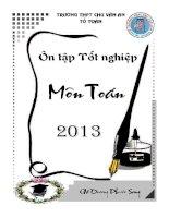 Ôn tập tốt nghiệp môn toán lớp 12 trường THPT Chu Văn An