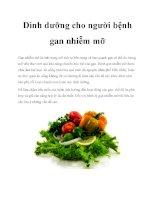 Dinh dưỡng cho người bệnh gan nhiễm mỡ