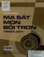 Giáo trình Ma sát, mòn, bôi trơn (Tribology)