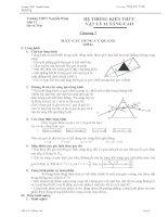 Hệ thống kiến thức chương 7 Vật lý 11 Nâng cao