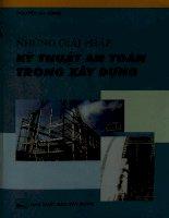 Những giải pháp kỹ thuật an toàn trong xây dựng