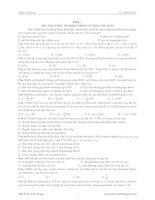 Bài tập trắc nghiệm ôn thi đại học
