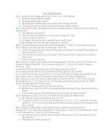 BÀI TẬP SINH HỌC LỚP 10