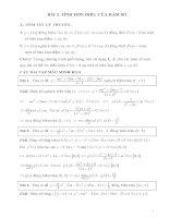 Chuyên đề ôn thi đại học TÍNH ĐƠN ĐIỆU CỦA HÀM SỐ