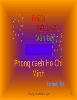 Bài 1 Phong cách Hồ Chí Minh