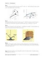 Đề bài tập cơ học lý thuyết