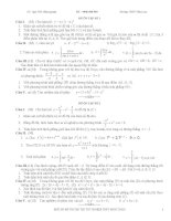 Một số bộ đề ôn tập thi tốt nghiệp THPT & ĐH, CĐ môn Toán