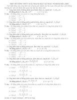 Công thức giải nhanh bài tập trắc nghiệm hóa học.