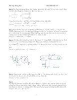 Bài tập cơ học lý thuyết phần động học