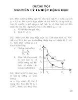Bài tập vật lý phần nhiệt học