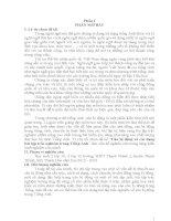 SKKN Câu bị động và các dạng bài tập trắc nghiệm trong tiếng Anh