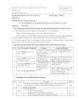 Ngân hàng câu hỏi và đáp án môn học động cơ đốt trong - đại học spkt TPHCM