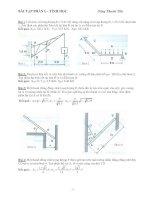 Bài tập cơ học lý thuyết phần tĩnh học