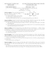 Đề thi vật lý lớp 10 chuyên có đáp án