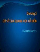 Bài giảng vật lý 2  chương 3   GV  lăng đức sỹ