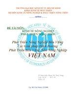 Phát Triển Nông Nghiệp Bền Vững Các Giải pháp Định Hướng Phát Triển Bền Vững Nền Nông Nghiệp VIỆT NAM