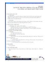 Bài 2: Lịch sử truyền thống QDND & CAND