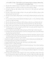 CÂU HỎI VÀ BÀI  TẬP THẢO LUẬN TRANH CHẤP LAO ĐỘNG, ĐÌNH CÔNG VÀ GIẢI QUYẾT TCLĐ, ĐÌNH CÔNG