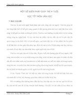 Sáng kiến kinh nghiệm MỘT SỐ BIỆN PHÁP GIÚP TRẺ 4 TUỔI  HỌC TỐT MÔN VĂN HỌC