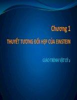Bài giảng vật lý 2  chương 1   GV  lăng đức sỹ