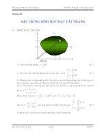 Bài tập sức bền vật liệu- chương 4 Đặc trưng hình học mặt cắt ngang