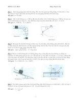 Bài tập cơ học lý thuyết phần động lực học