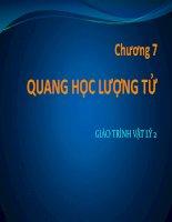 Bài giảng vật lý 2  chương 7   GV  lăng đức sỹ