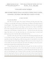 SÁNG KIẾN KINH NGHIỆM MỘT SỐ BIỆN PHÁP NÂNG CAO CHẤT LƯỢNG CHẤT LƯỢNG GIÁO DỤC ÂM NHẠC CHO TRẺ MẪU GIÁO 5 -6 TUỔI