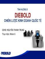 Tiểu luận Chiến lược kinh doanh quốc tế của Công ty Diebold