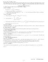 Một số bộ đề ôn tập thi tốt nghiệp THPT & ĐH, CĐ môn Toán (có lời giải chi tiết)