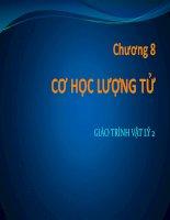 Bài giảng vật lý 2  chương 8   GV  lăng đức sỹ