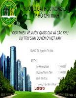 GIỚI THIỆU về vườn QUỐC GIA và các KHU dự TRỮ SINH QUYỂN ở VIỆT NAM
