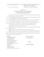 THÔNG TƯ Ban hành Quy định về Tiêu chuẩn đánh giá chất lượng  giáo dục trường mầm non
