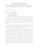 SÁNG KIẾN KINH NGHIỆM MỘT SỐ BIỆN PHÁP GIÚP TRẺ 4-5 TUỔI HỌC MÔN KHÁM PHÁ KHOA HỌC MÔI TRƯỜNG XUNG QUANH ĐẠT KẾT QUẢ CAO