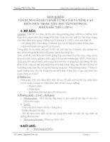 skkn VẬN DỤNG GIẢI BÀI TẬP ĐỂ CỦNG CỐ  VÀ NÂNG CAO KIẾN THỨC TRONG VIỆC HỌC TẬP CHƯƠNG II: NHIỄM SẮC THỂ ( LỚP 9 )