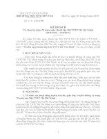 Kế hoạch tổ chức kỷ niệm 70 năm ngày thành lập Đội TNTP Hồ Chí Minh (15/5/1941 – 15/5/2011)