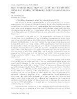 MỘT SỐ HOẠT ĐỘNG HỢP TÁC QUỐC TẾ CỦA BỘ MÔN CÔNG TÁC XÃ HỘI, TRƯỜNG ĐẠI HỌC THĂNG LONG, HÀ NỘI