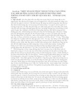 SÁNG KIẾN KINH NGHIỆM một số GIẢI PHÁP NHẰM NÂNG CAO CÔNG tác bồi DƯỠNG GIÁO VIÊN GIỎI ở TRƯỜNG PHỔ THÔNG cơ sở TIẾN tới