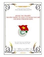 Bài dự thi tìm hiểu truyền thống Đoàn TNCS HCM