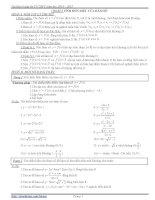 Tài liệu ôn tập thi tốt nghiệp môn toán THPT năm học 2014 – 2015