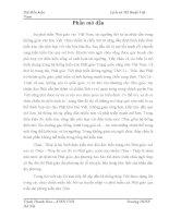 luận văn đại học sư phạm Tháp Phật và truyền thống văn hoá Phật giáo Đại Việt