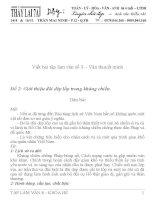 Những bài văn mẫu lớp 8