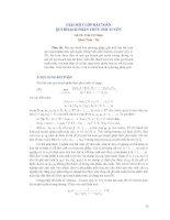 Dáng điệu tiệm cận và tính ổn định của nghiệm của phương trình sai phân ẩn tuyến tính chỉ số 1 r