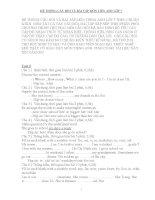 HỆ THỐNG CÂU HỎI VÀ BÀI TẬP MÔN TIẾNG ANH LỚP 7
