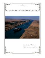 Thực hành: Làm báo cáo ngắn về kênh đào Xuyê và kênh đào Panama