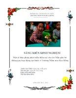 sáng kiến kinh nghiệm Một số biện pháp phát triển thẩm mỹ cho trẻ Mẫu giáo bé thông qua hoạt động tạo hình ở Trường Mầm non Hoa Hồng