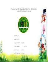 Báo cáo chuyên đề môn quản lý tài nguyên rừng kiến thức bản địa (indigenous knowledge)
