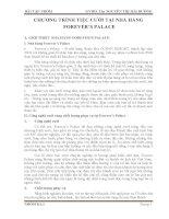 Bài tập nhóm môn quản trị kinh doanh Nhà Hàng CHƯƠNG TRÌNH TIỆC CƯỚI TẠI NHÀ HÀNG FOREVER'S PALACE