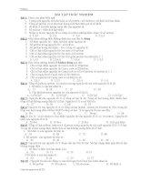 Bài tập trắc nghiệm: Cấu tạo nguyên tử
