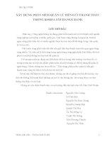 đồ án công nghệ thông tin XÂY DỰNG PHẦN MỀM QUẢN LÝ TIỀN GỬI THANH TOÁN TRONG KOREA EXCHANGE BANK